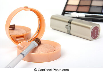 make-up cosmetics on a white background