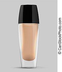 foundation bottle vector - make-up cream foundation bottle...
