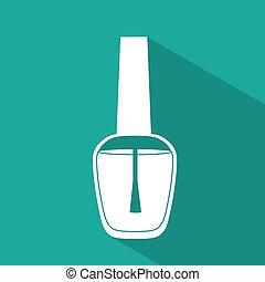 Make up design over blue background, vector illustration