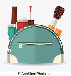 Make up design over white background, vector illustration