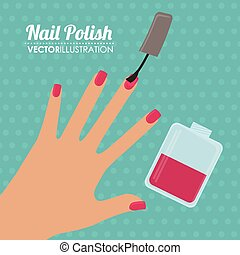 Make up design over white background, vector illustration.