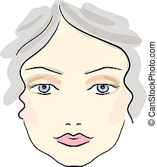 Make up - Eps 10 vector classical daily make up pattern