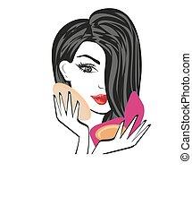 Make-up girl illustration