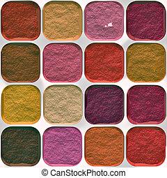 Illustration of make up. A seamlessly tiling texture.