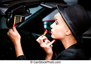 make up in the car