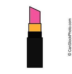 Make Up Lipstick Isolated Icon Vector Illustration Design