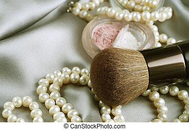 Make-up. Makeup accessories