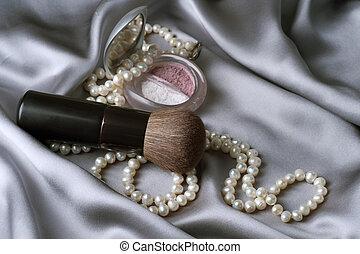 make-up., maquilagem, acessórios