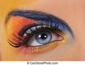 Make-up of a beautiful woman eye