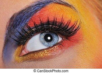 Make-up of a beautiful woman eye