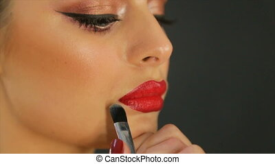 Make up of female lips