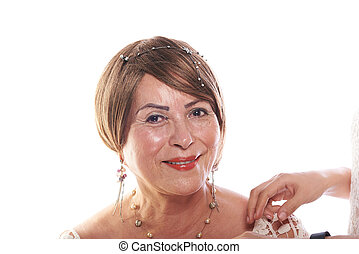 make up of mature woman
