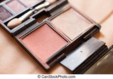 Make up Put on a light colored background.
