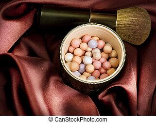make-up., trucco, accessori, fondo
