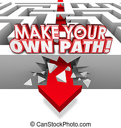Make Your Own Path Arrow Through Maze Independent Original Route