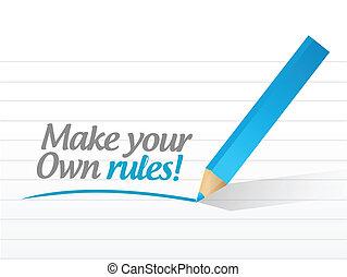 make your own rules message illustration design