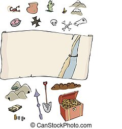 Make Your Own Treasure Map - A customizable, comic-style...