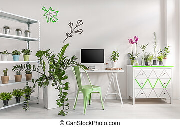 Make your room look like a garden - White home interior ...