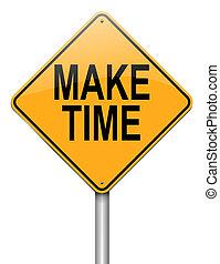 maken, concept., tijd