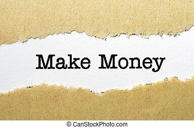 maken, geld, concept