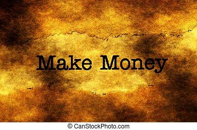 maken, geld, grunge, concept