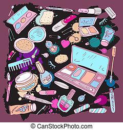 maken, producten, op, beauty