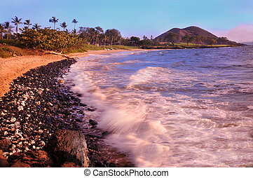 makena, sandstrand, maui, hawaii