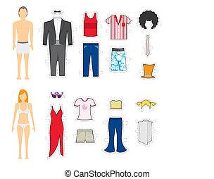 makeover, roupa, /, mudança, olha