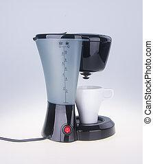 maker., fabricante café, fundo