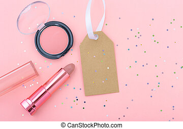 Makeup and cosmetic with blank sale tag