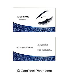 Makeup artist illustrations and stock art 2877 makeup artist makeup artist business card vector template reheart Images