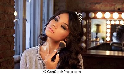 Makeup beautiful brunette