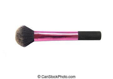 Makeup brush powder blusher isolated on white background