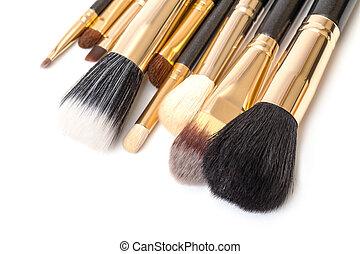 Makeup Brush Set, on white background