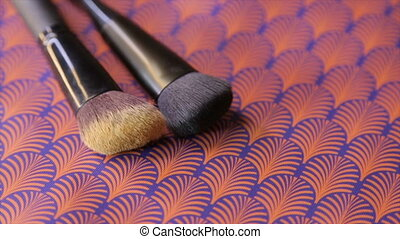 Makeup brushes ,full hd video - Two makeup brushes, circle...