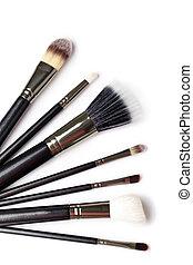 Makeup Brushes on white  background
