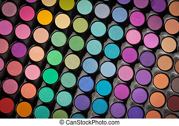 Makeup eye shadows background