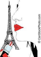 Makeup in Paris