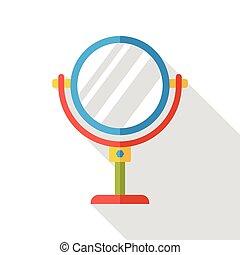 makeup mirror flat icon