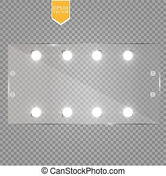 Makeup mirror isolated with lights. Vector illustration. eps...