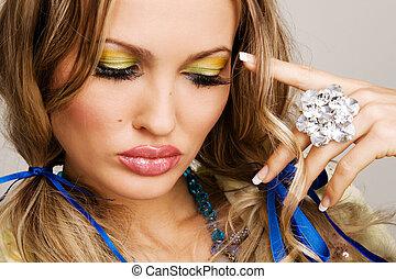 makeup, model, confronteren beeltenis