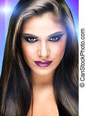makeup, model, met, extreem, makeup