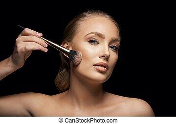 makeup, model