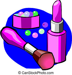 Makeup objects, vector illustration