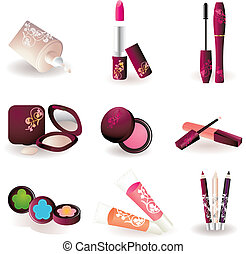 makeup pattern design background.