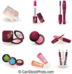 makeup pattern design background.