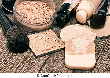 Makeup products for flawless complexion: foundation,...
