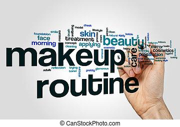 Makeup routine word cloud