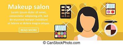 Makeup salon banner horizontal concept