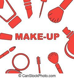 Makeup set of cosmetics